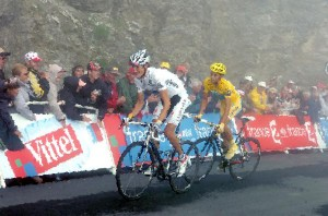 Schleck and Contador by Monet