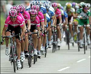 T-Mobile rode well in Stage 8; too bad about those uniforms.