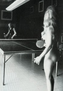 How could I resist this picture of Henry Miller playing table tennis with an unnamed young lady?