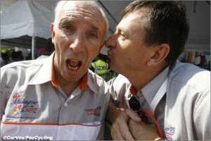 Phil Liggett and Paul Sherwen: a very close relationship.
